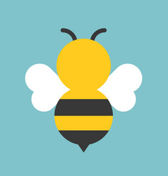 cute bee icon flat design vector image