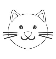 Cute cat cartoon icon vector