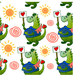 dinosaur pattern vector image