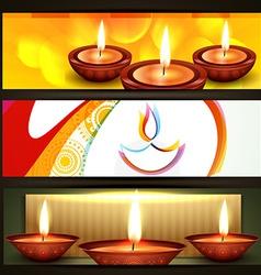 Diwali festival headers vector