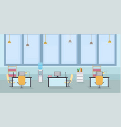 empty office interior cartoon vector image