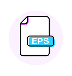 eps file format extension color line icon vector image