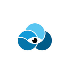 eye in cloud logo icon element vector image