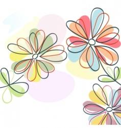 Floral pastel vector
