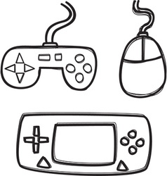 Gaming elements vector