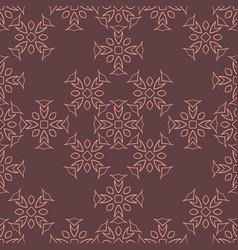 geometric hand-drawn seamless pattern vector image