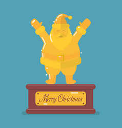 golden santa claus trophy vector image