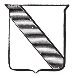 Heraldry bend are slanted stripe on shield vector