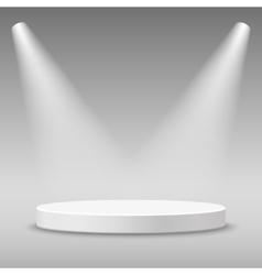 Illuminated round stage podium vector image