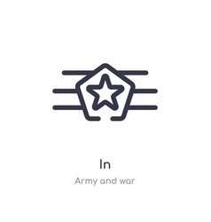 In outline icon isolated line from army and war vector