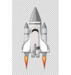 Isolated rocket on transparent background vector