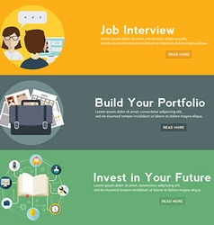 Job interview portfolio and future investment web vector image vector image