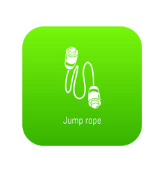 jump rope icon green vector image