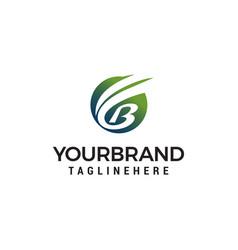 Letter b nature logo design concept template vector