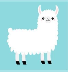 Llama alpaca animal cute cartoon funny kawaii vector