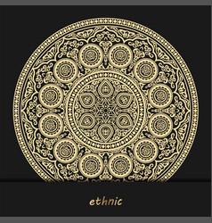 luxury ornamental mandala design background henna vector image