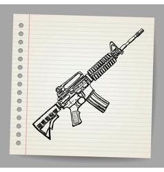 M16 Doodle vector