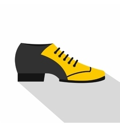 Male tango shoe icon flat style vector