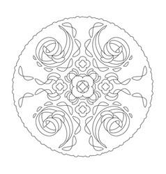 Mandala coloring page abstract and spiral vector