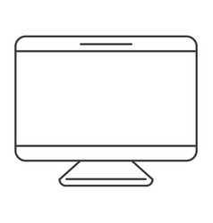 monochrome silhouette of screen monitor vector image