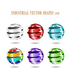 multi-colored balls vector image