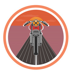 retro poster with vintage motorcycle vector image