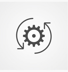 rotating gear icon sign symbol vector image