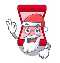 Santa wedding ring box in character bag vector