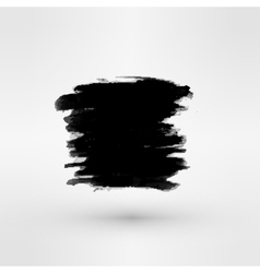Set of Black ink paint stains vector image