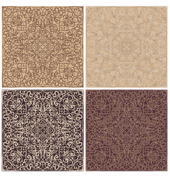 Set of square patterns vector