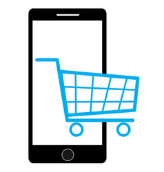 shopping on mobile vector image