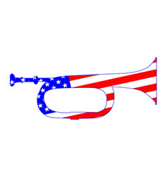 Stars and stripes bugle vector