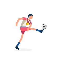 striker footballer symbol soccer icon vector image