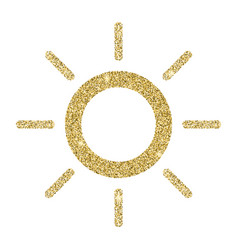 Sun icon with glitter effect isolated on white vector