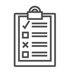 To-do list productivity outline icon vector
