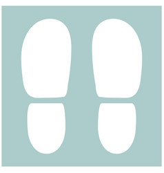Traces the heels of shoes the white color icon vector