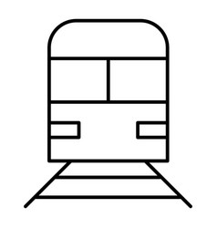 train thin line icon railway vector image