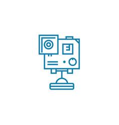 tv camera linear icon concept tv camera line vector image