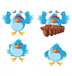Tweeter bird vector