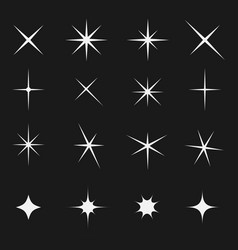 twinkling star set bright on black vector image