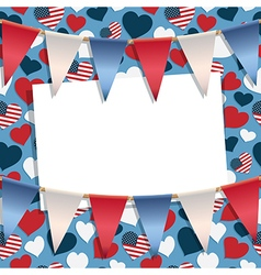 usa greeting card vector image