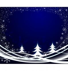 winter background vector image
