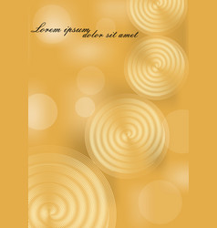 yellow and gold abstract background with spiral vector image