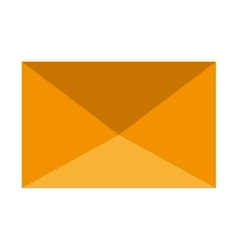 yellow mail envelope graphic vector image