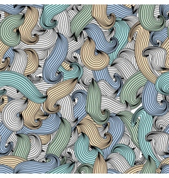 Abstract seamless pattern waves vector image