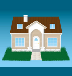 detailed house with grass vector image vector image