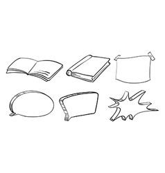 Different writing materials vector image