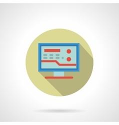 Medicine online flat color design icon vector image