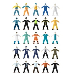 Profession people made in cartoon flat style vector image vector image