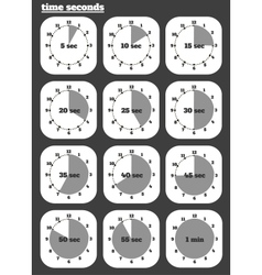 Black clocks icon vector image vector image